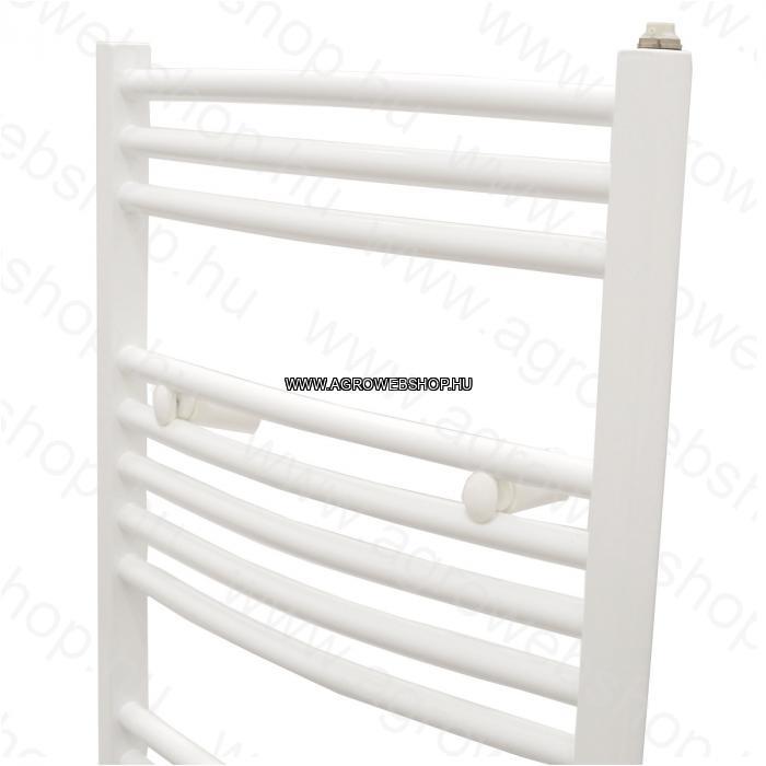 ÍVES 500 X 800 MM-ES CSŐRADIÁTOR - 2 törölközőtartós14 csövesfürdőszobai fűtőtest.426W-os fehér ívelt csövű fali törölköző tartós radiátor